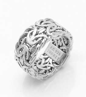clad sterling silver bold byzantine band ring technibond jewelry