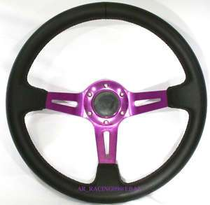 Drift Racing Deep Dish Steering wheel 350mm Purple Pink