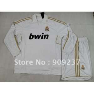 new white real madrid 11 12 home long sleeve shirts 2011
