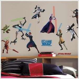 STAR WAR CLONE Wall Sticker Decor Glow Dark Light Saber
