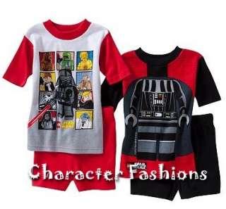 Boys STAR WARS Lego Pajamas pjs Size 4 6 8 10 DARTH VADER CHEWBACCA