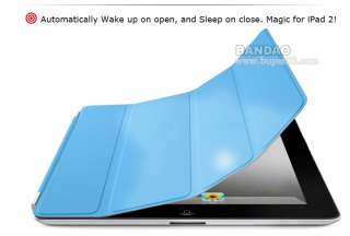 Magnetic Smart Cover PU Leather Case/ Magic Stand for Apple iPad 2