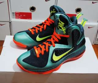 Nike Lebron James 9 Cannon Miami Hurricanes