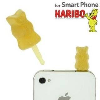 HARIBO Gummi Bear Earphone Jack Accessory (Yellow) by RUNA co.,ltd