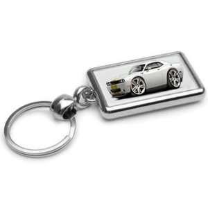 Hurst Dodge Challenger SRT8 Chrome Double Sided Key Ring