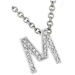 Inital English Letter Necklace (0.26 ct.tw.): Evyatar Rabbani: Jewelry