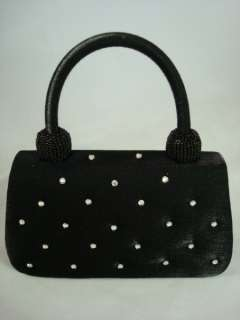 NEW BLACK shimmer Rhinestone Mini evening Purse