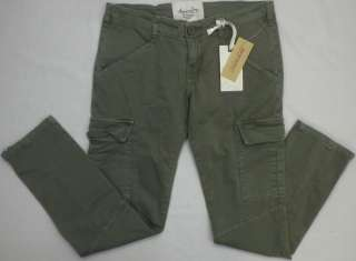 RAG Womens Olive Green Cotton/Spandex Cargo Pants Size 11 MSRP$59.00