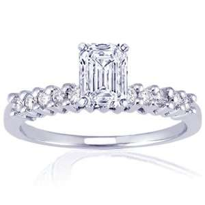 Emerald Cut Diamond Engagement Ring FLAWLESS GIA Fascinating Diamonds