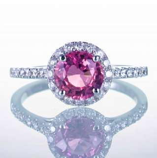 GOLD PINK CEYLON SAPPHIRE DIAMOND ENGAGEMENT RING MATCHING BAND