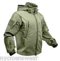 OLIVE DRAB MILITARY SPECIAL OPS ARMY TACTICAL SOFTSHELL JACKET