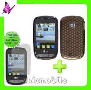 Screen Shield + SMK TPU Gel Case Cover TRACFONE LG 800G
