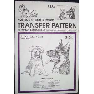 Hot Iron Transfer Pattern #3154 Shepard (For Punch