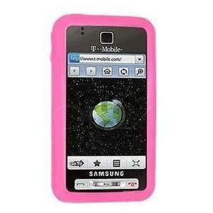 Premium Hot Pink Silicone Soft Rubber Cover Case for Samsung Behold
