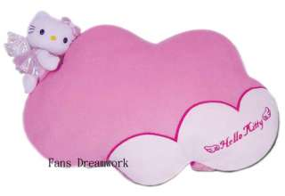 Sanrio Hello Kitty Plush Pillow Car Headrest   cloud