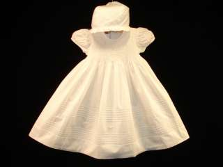 Boutique Design Hand Embroidered Smocked CHRISTENING Dress 12M BAPTISM