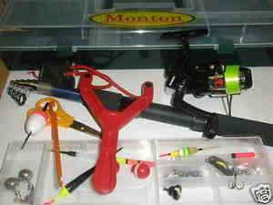 Monton Holiday fishing tackle set rod reel case etc CLEARANCE
