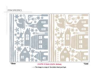 CHRISTMAS VILLAGE WALL & WINDOW DECOR ART DECAL STICKER