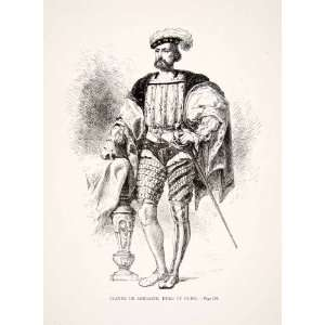 Italian Wars Fashion Codpiece   Original Woodcut: Home & Kitchen