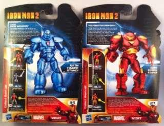 IRON MAN 2 Movie 3.75 Lot Hulkbuster Classic Monger War Machine Blue