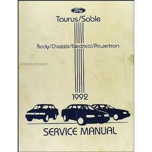 1992 Ford Taurus & Mercury Sable Repair Shop Manual