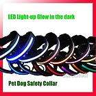 Waterproof LED Lights Adjustable Pet Dog Nylon Collar
