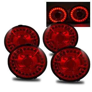 06 07 Chevy Corvette Z06 Red LED Tail Lights Automotive