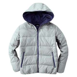 Mens Puffer Mens Warm Winter Contrast Zipper Hooded Down Jacket 12