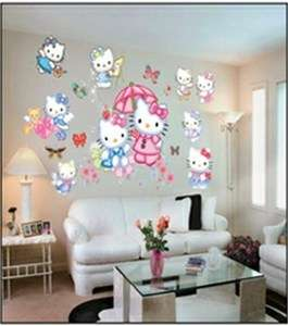 STICKERS, HELLO KITTY KIDS WALL STICKERS PVC SELF ADHESIVE CHILDREN