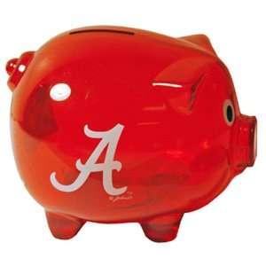 NCAA Alabama Crimson Tide Clear Plastic Piggy Bank