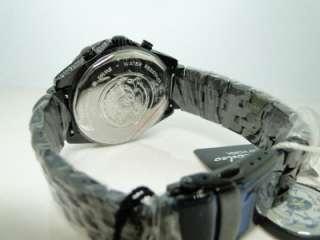 JOE RODEO/JOJO GLORY BLACK METAL HALF DIAMOND BAND WATCH 5.5 CT