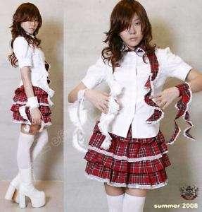 Cosplay Goth Lolita Mana EGL CURLY COLLAR Shirt+Cuf $52