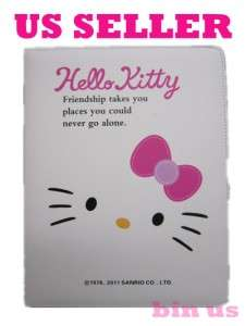 New Ipad 2 Hello Kitty White cat Cute Leather Smart Case Cover US