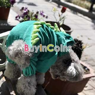 Cute Comfortable Dinosaur Pet Puppies Dog Cothes Hooded Costume Pet