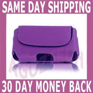 Purple Leather Case Pouch for Samsung EPIC 4G FASCINATE
