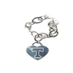 Volunteers Vols UT Tiffany Style Heart Tag Bracelet
