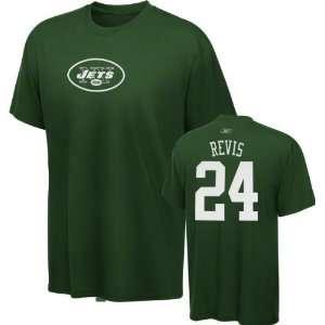 Darelle Revis New York Jets Green Reebok Name & Number T