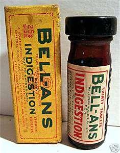 1940 Bell ans Medicine Bottle Old Stock Orangeburg NY