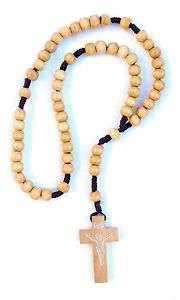 Olive Wood Rosary Beads Necklace JERUSALEM Holy Land
