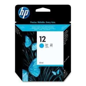 Hewlett Packard No 12 Cyan Ink Cartridge Typical Print