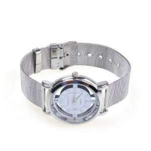 Rotary Dial Quartz Wrist Watch Steel Men Xmas Gift Watch Sports