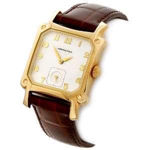 Hamilton Mens Classic Lloyd Goldtone Watch on Brown Leather Strap NOS