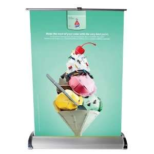 Mini Roll up Retractable Banner Stand   A4 Size Office