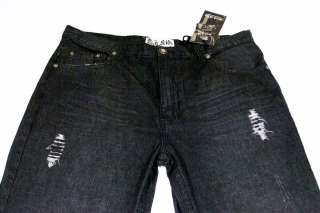 Mens Rich Kids RK Jeans Co Destroyed Black 38x32 NWT