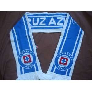 CRUZ AZUL MEXICO OFFICIAL SCARF: Sports & Outdoors