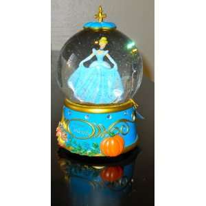 to Disney Princesses Cinderellas Night Out Musical Water Globe