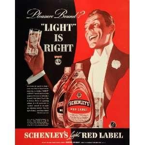 1939 Ad Schenley Distillers Red Label Blended Whiskey   Original Print