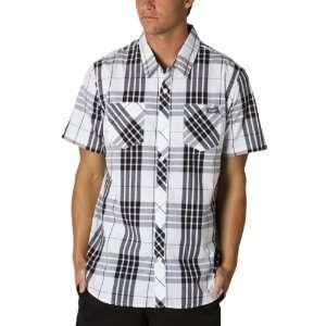 FMF Distinct Woven Mens Short Sleeve Casual Wear Shirt   White / 2X