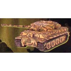 15mm German Tiger IE Tank: Green and Brown Camo (5): Toys
