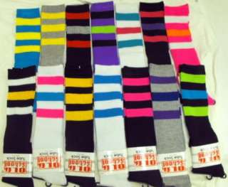 Old School Knee High Tube Women Striped Socks Roller Derby WHOLESALE